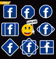 Icon of the popular social network logo logo vector