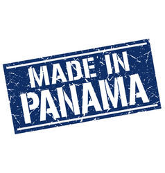 Made in panama stamp vector