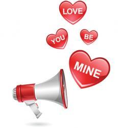 megaphone valentine vector image