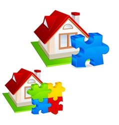 model of house vector image vector image