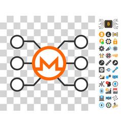 monero node links icon with bonus vector image vector image