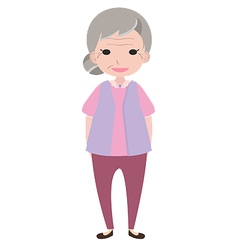 Old lady character vector