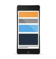 Phone with responsive grid layout vector