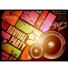 retro disco party vector image vector image