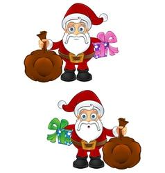 Santa claus present sack vector