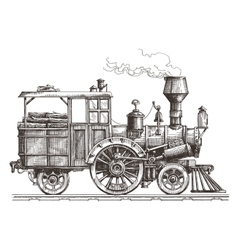 steam locomotive logo design template vector image vector image