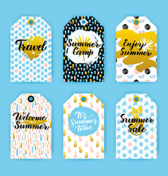 summer trendy hipster gift labels vector image