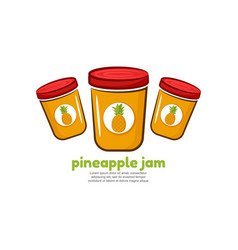 Template logo for pineapple jam vector