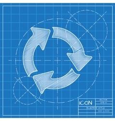 Three arrows icon eps10 vector