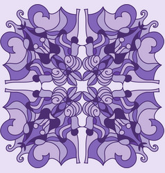 Violet mandala vector