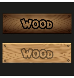 wooden banners boards with texture and text eps10 vector image vector image