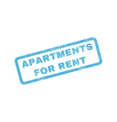 Apartments for rent rubber stamp vector