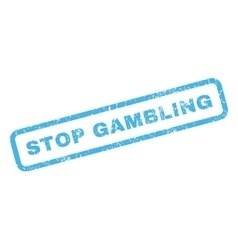 Stop gambling rubber stamp vector