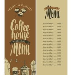 menu of coffee house vector image