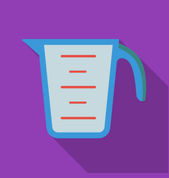 measuring cup icon in flate style isolated on vector image