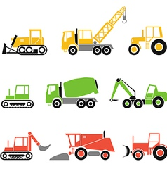 Collection of modern technics silhouettes vector