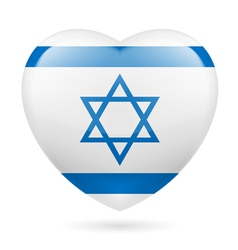 Heart icon of israel vector