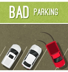 Parking scene poster vector