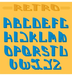 Retro styled font design elements vector