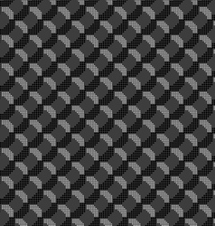 Monochrome pattern with black and gray dotted vector