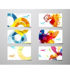 Set of abstract colorful splash and circle gift vector image