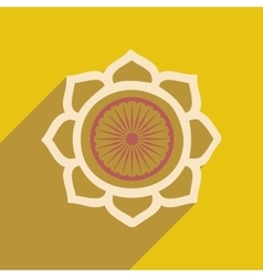 Modern flat icon with long shadow lotus vector