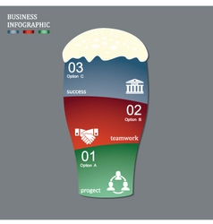 Business startup idea concept with 3 options vector image