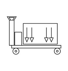 Trailer with cargo icon outline style vector
