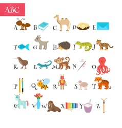 ABC Cartoon vocabulary for education Children vector image