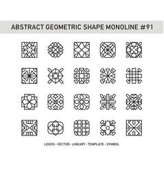 Abstract geometric shape monoline 91 vector
