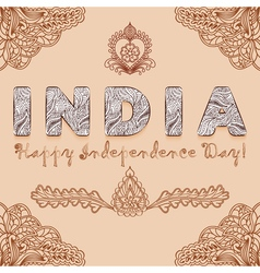 Background congratulation of india independence vector