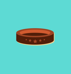 Circle circus or theater stage in sticker style vector