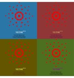 Color set star web icon flat design vector image vector image