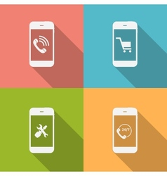 Concept on different mobile phote icons vector