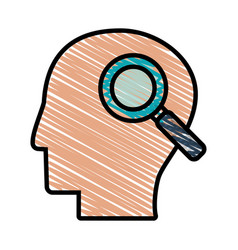 drawing head profile search vector image vector image