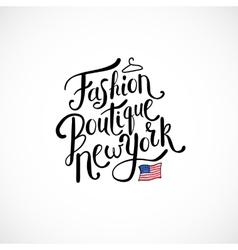 Fashion boutique new york concept on white vector