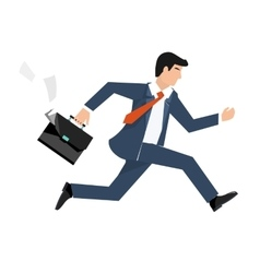Flat style of a businessman vector image
