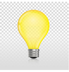 glowing off electric light bulb vector image vector image