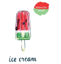 Icecream watermelon vector