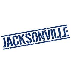 Jacksonville blue square stamp vector