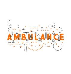 Medicine concept design ambulance vector image vector image