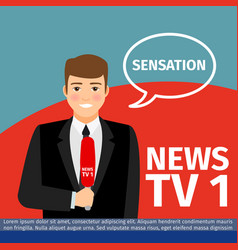 News anchor man vector