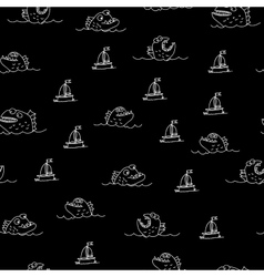Piranha seamless pattern vector