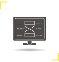 Scientific research icon vector