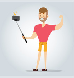 Selfie man boy isolated vector