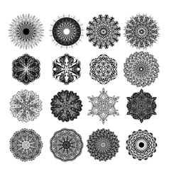 Set of abstract design element Round mandalas in vector image