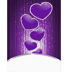 shiny hearts vector image vector image