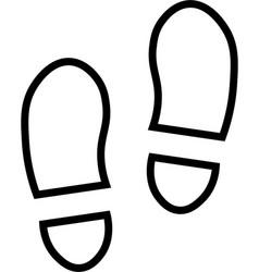 Shoe prints line icon vector