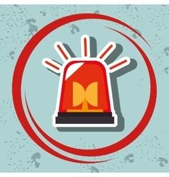 Siren fire alarm emergency vector