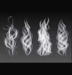 smoke set isolated on transparent background vector image vector image
